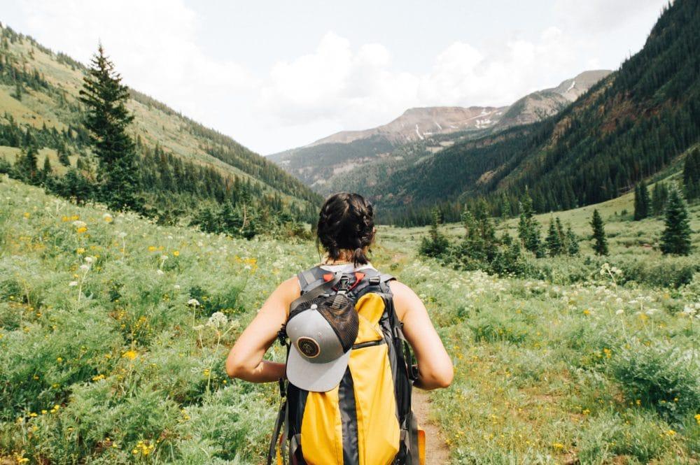 A backpacker.