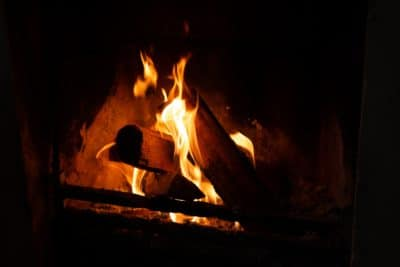 A fire.