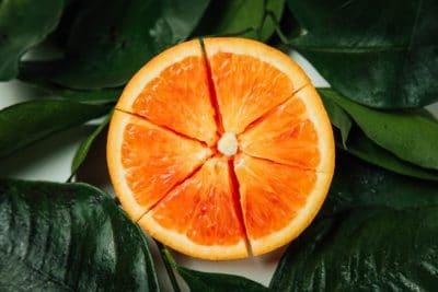 A photo of an orange.