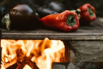 Now that you've got your camping stove burning, it's time to grill some veggies.