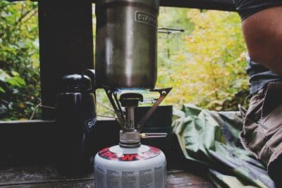 A camping stove.