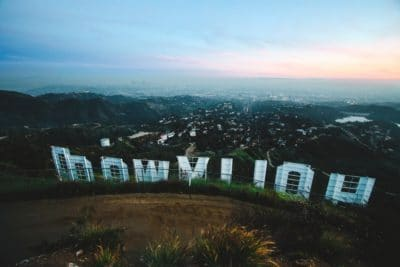 The famous Hollywood sign in Hollywood.