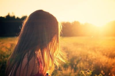 A girl in the sunshine.