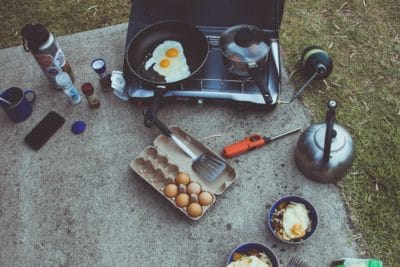 Cookware outdoors.
