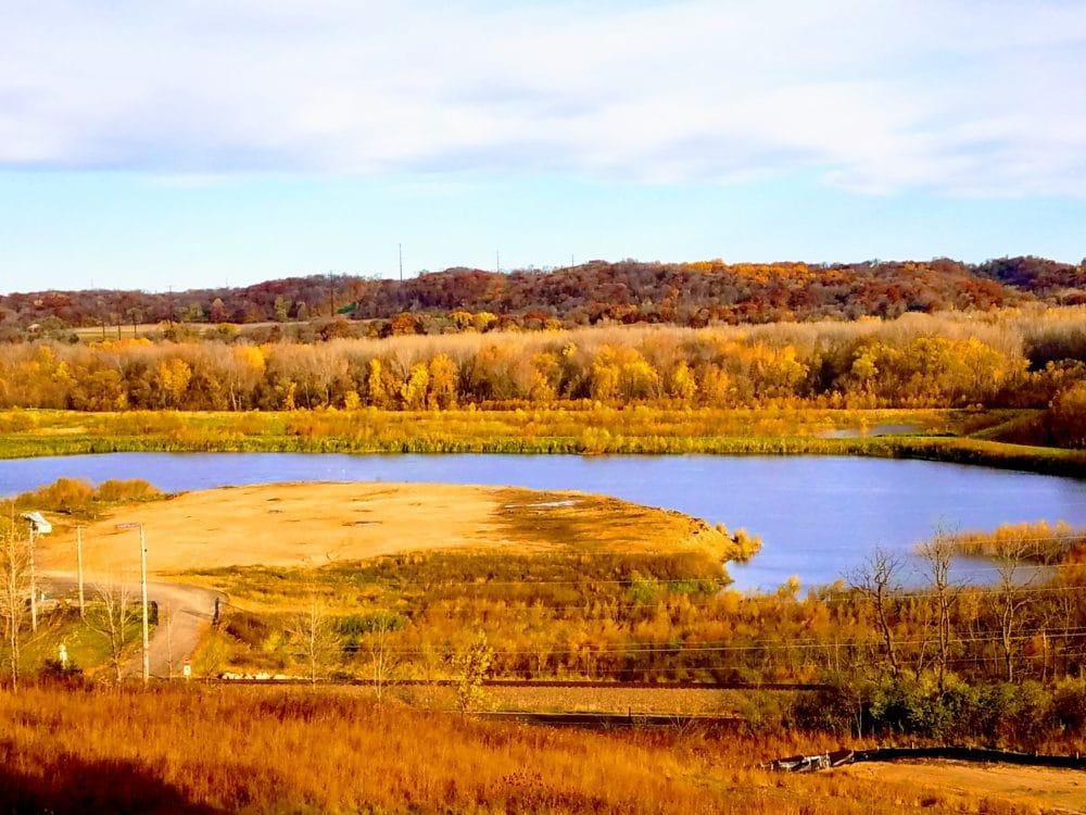 A lake in Belle in Plain.