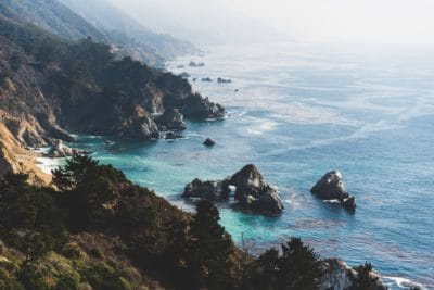 The coast in Big Sur, California.