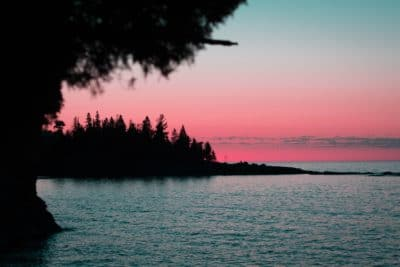 Split Rock State Park during sunset.