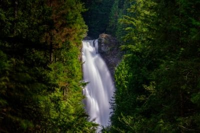 Wallace Falls waterfall in Washington.