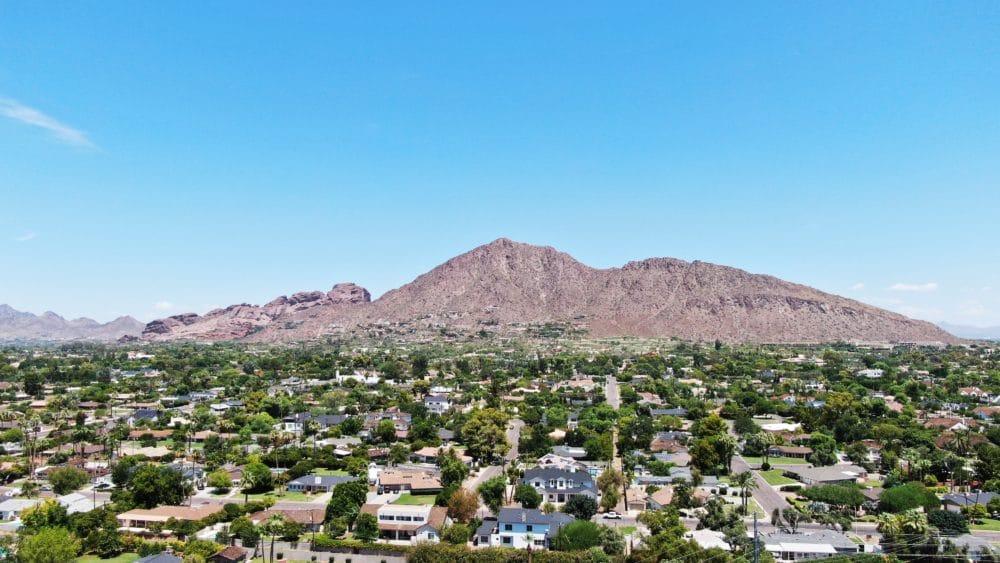 Camelback Mountain in Arizona.