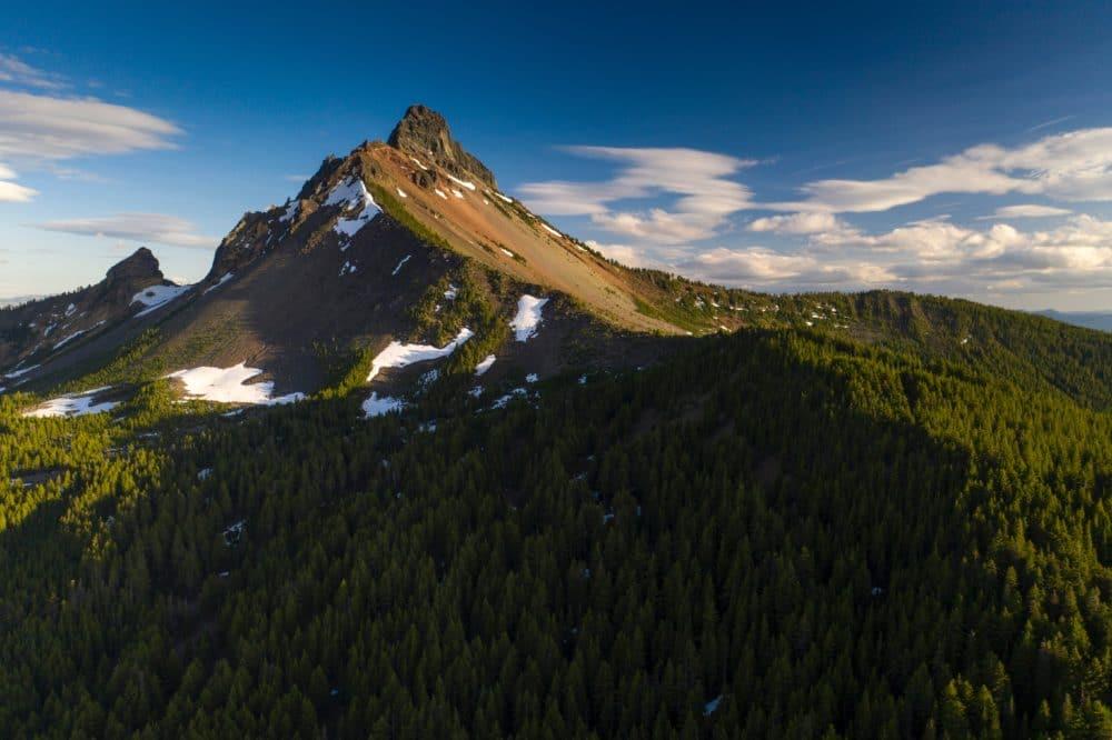 Mount Washington with blue skies.