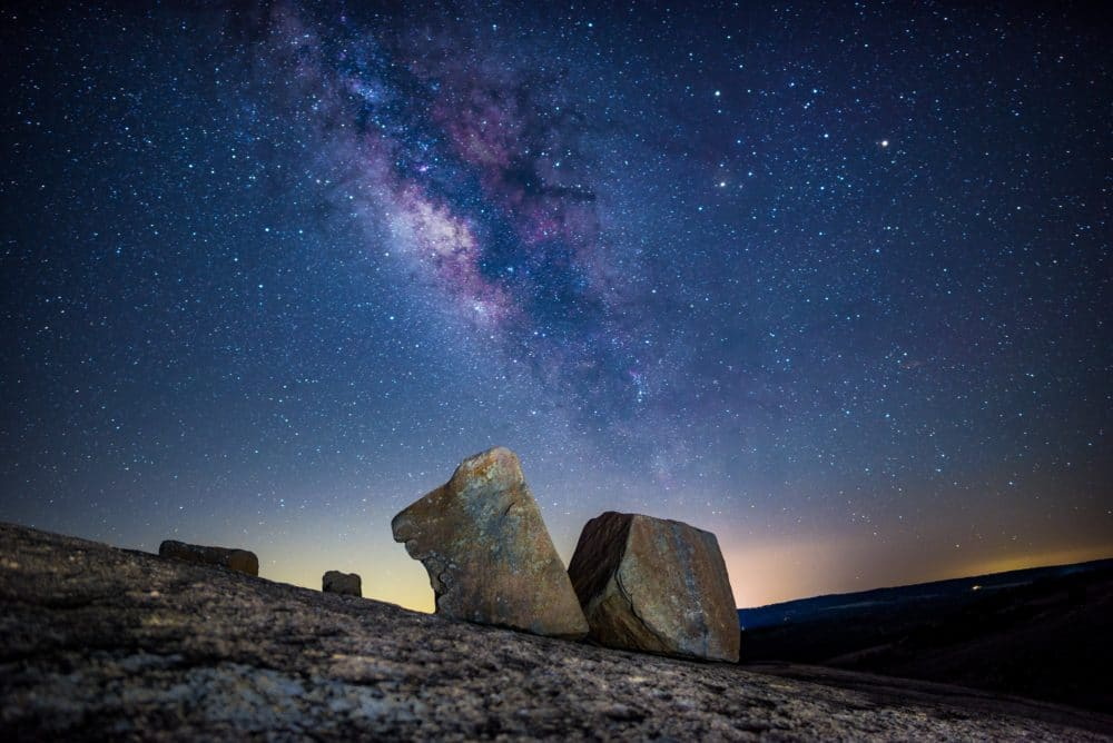 Some rocks under the stars.