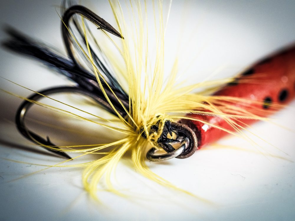 A fishing hook for bass.