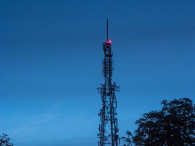 A radio tower.