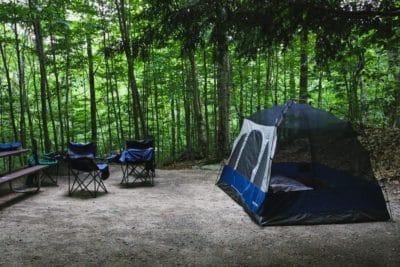 A campsite.