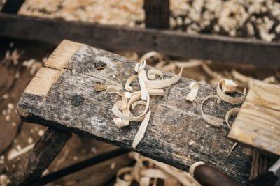 Wood shavings.