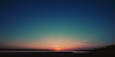 A sunset in Iowa.