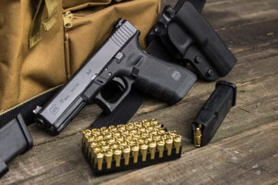 A Glock with bullets.