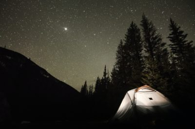 Camping under the stars.