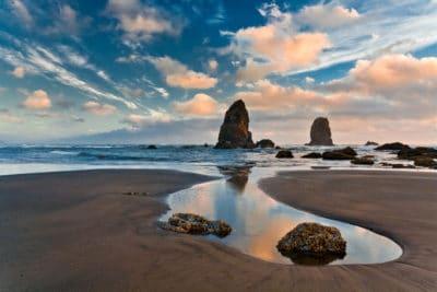 Oregon's coastline.
