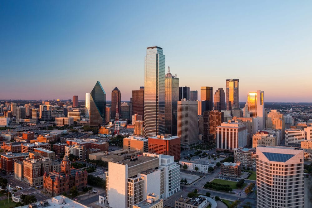 A view of Dallas, Texas.