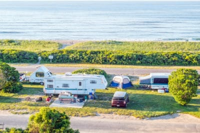 Camping with RV's in New York.