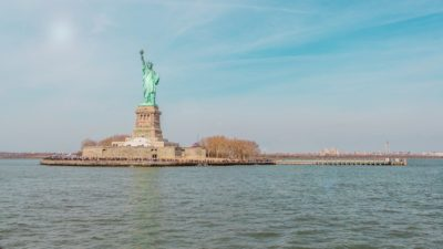 The Statue of Liberty.