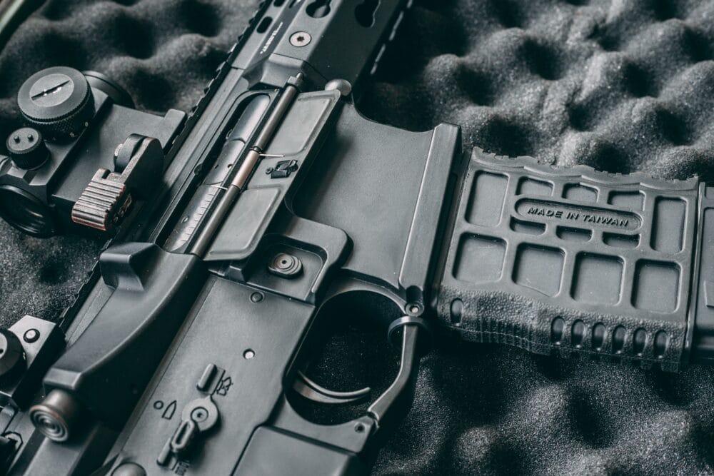 A semi automatic rifle.