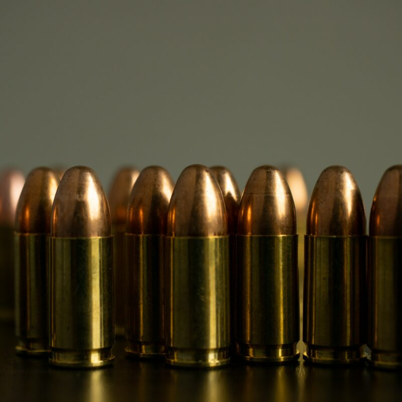 A collection of bullets.