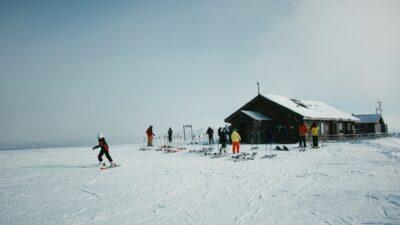 People at a ski lift.