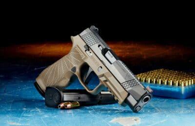 A Sig Sauer pistol.