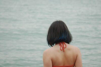 A girl at Lake Michigan.