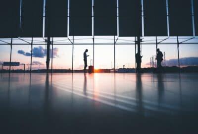 a passenger at an airport