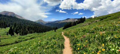 a beautiful mountain view