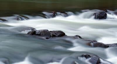 The Black River flowing through Johnson Shut Ins State Park in Missouri.