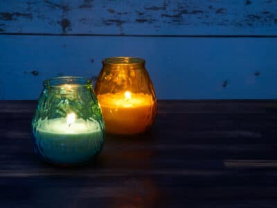 Citronella candles used as mosquito repellant