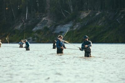 Fly fishing is very popular in freshwater lakes and rivers.