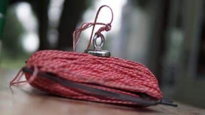 Magnet fishing equipment on table