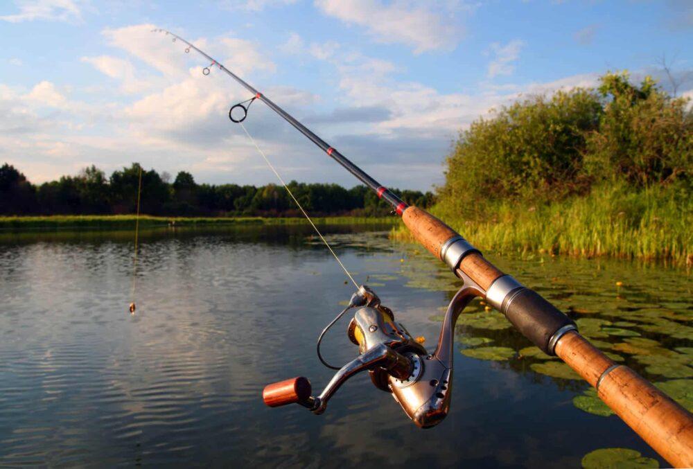 fishing line on reel