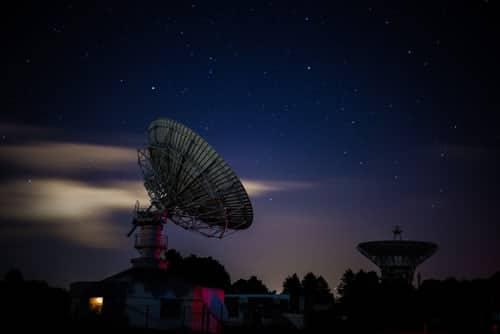 a satellite antenna