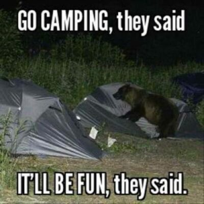 35 Funny Camping Memes That Make Us Laugh Out Loud - Peanuts or Pretzels